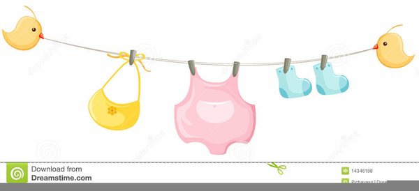 Baby Clothesline Clipart.