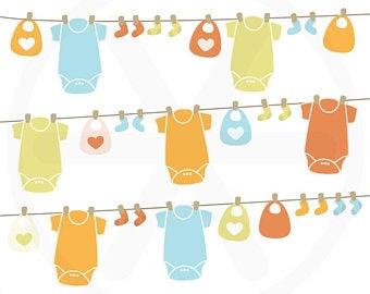 Baby clothesline.