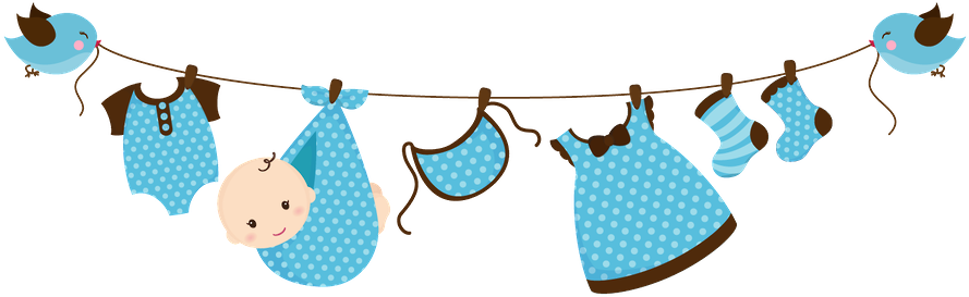 Download Baby Clothes Line Png Jpg Library Download.