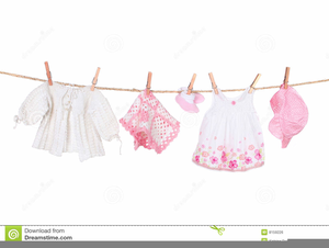 Baby Shower Clothesline Clipart.