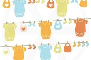 Baby shower clothesline clipart 4 » Clipart Portal.