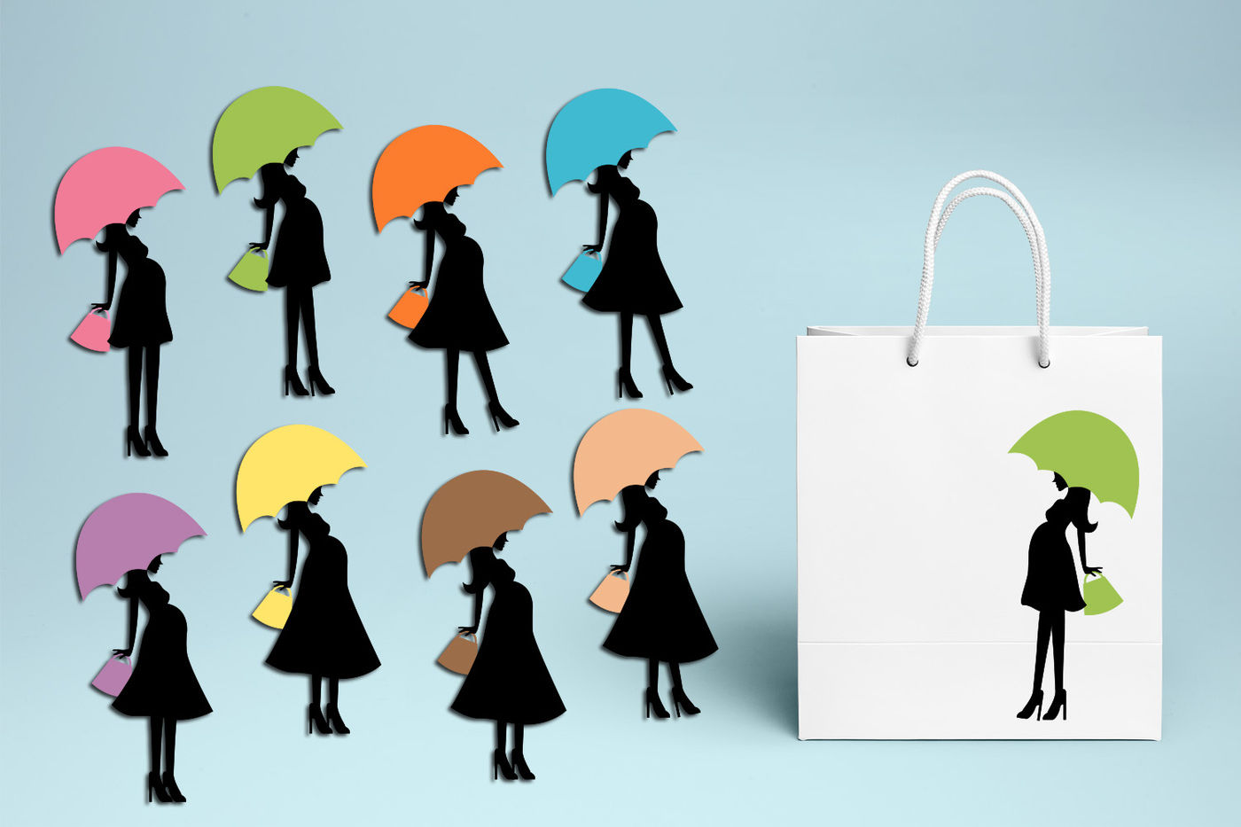 Mom to be umbrella clipart, Baby shower graphics By.