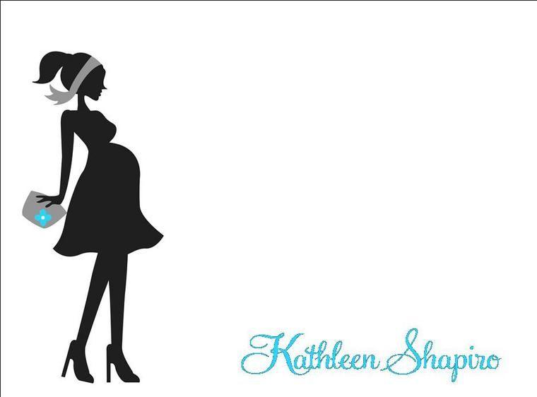 pregnant silhouette.