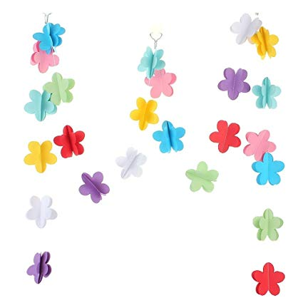 2M Heart Flower Circle Paper Garland Bunting Drop For Party.