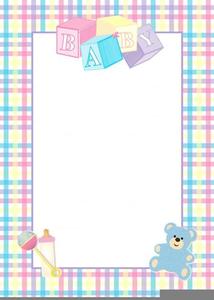 Baby Shower Invitation Border Clipart.