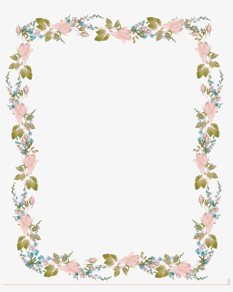 Invitation Clip Art Flowers.