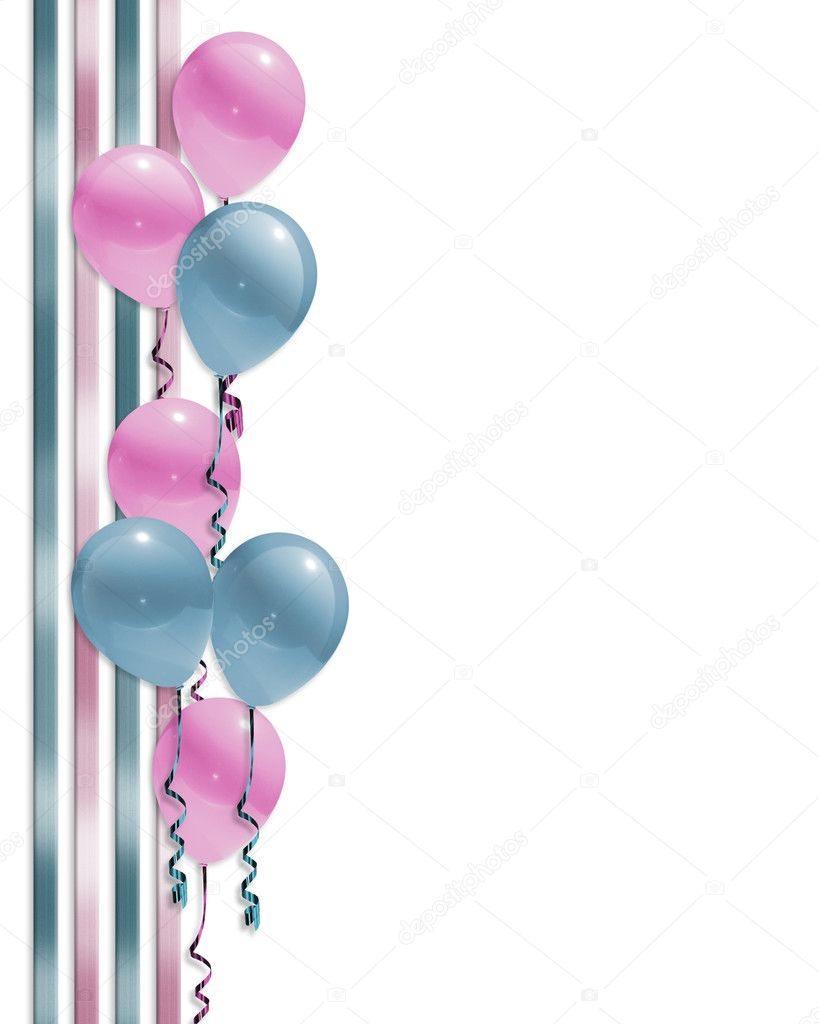 Clipart: baby shower border.