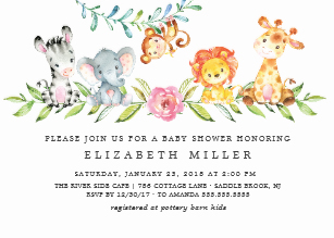 Baby Girl Shower Invitations.