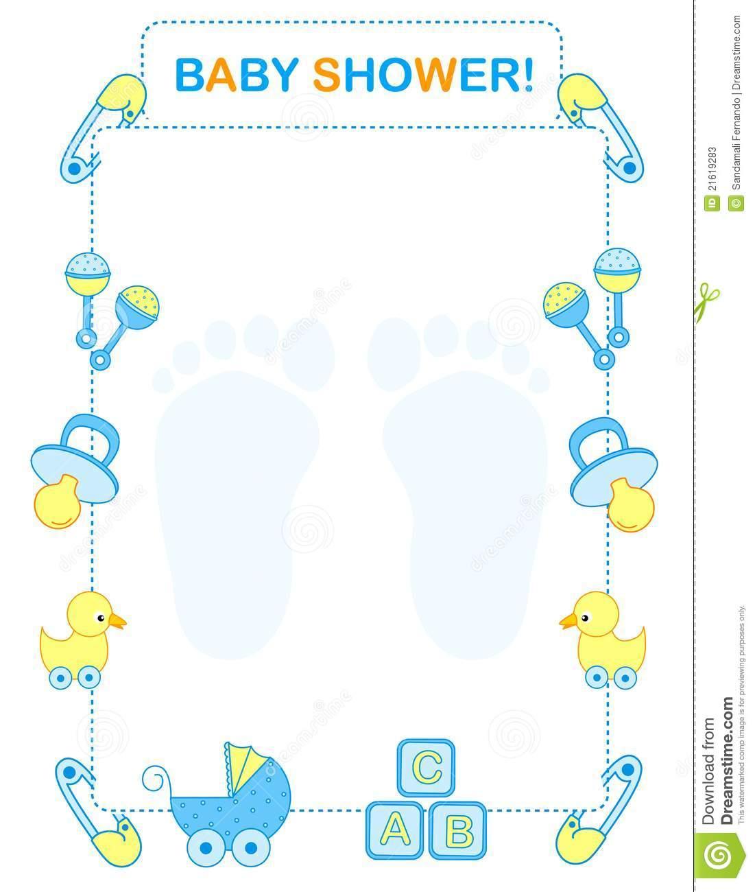 Baby shower invitation stock vector. Illustration of clipart.