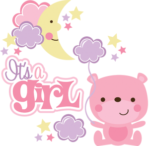 It's A Girl SVG scrapbook collection baby girl svg files for.