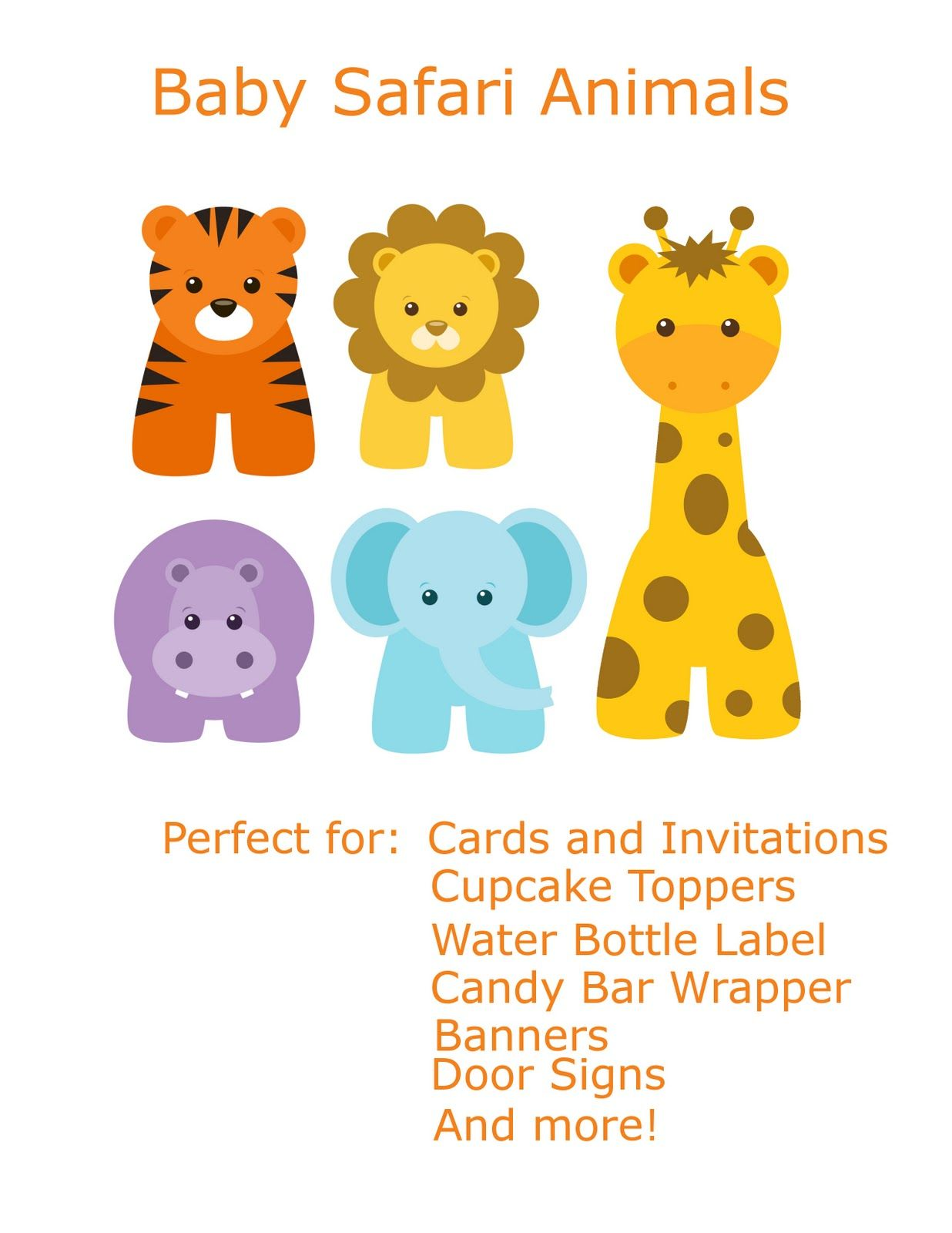 Free Baby Animal Clip Art.