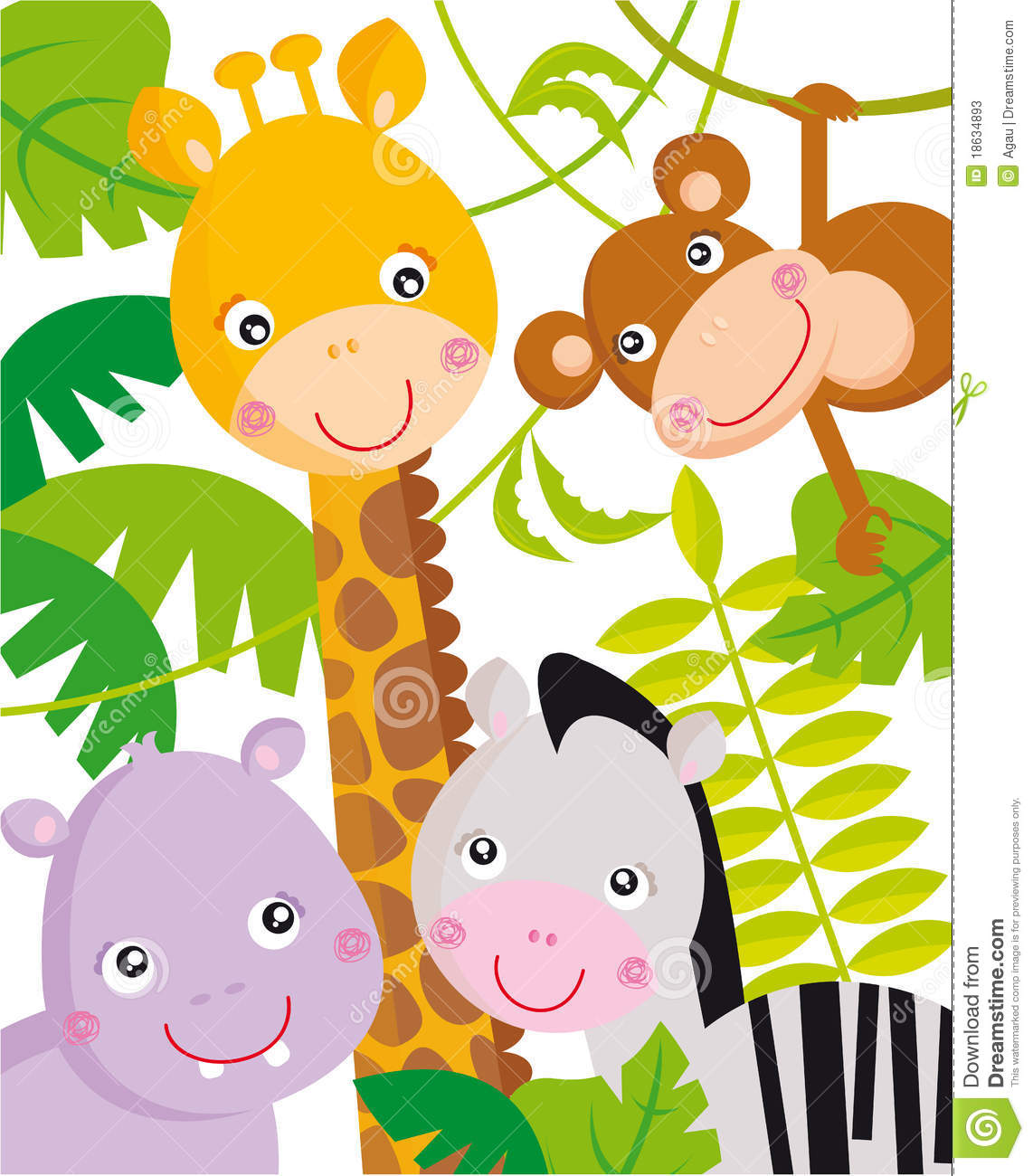Animal baby clipart jungle PNG and cliparts for Free Download.