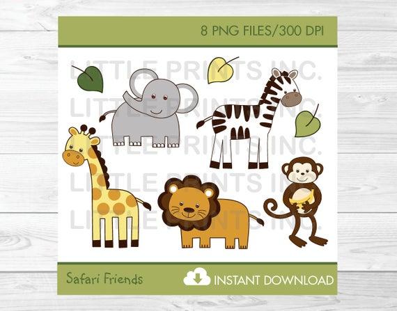 Cute Jungle Animal Clipart / Safari Animal Clipart / Jungle Animal.