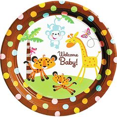 Details about JUNGLE SAFARI MONKEY BABY SHOWER BIRTHDAY PARTY.