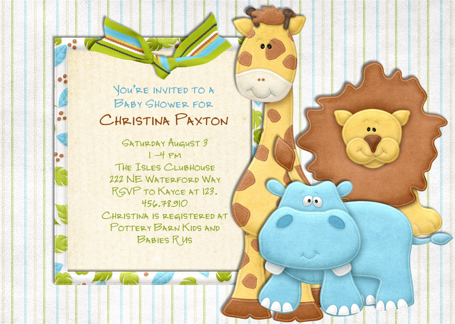 jungle baby shower invitations template Mn3QmVlK.