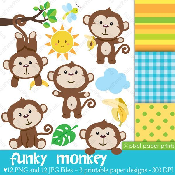 Monkey clipart for baby shower 3 » Clipart Portal.