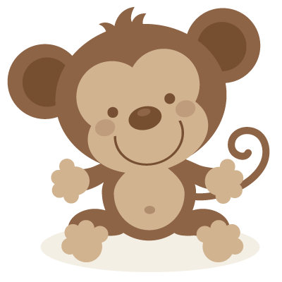 Cute monkey SVG file and clipart.