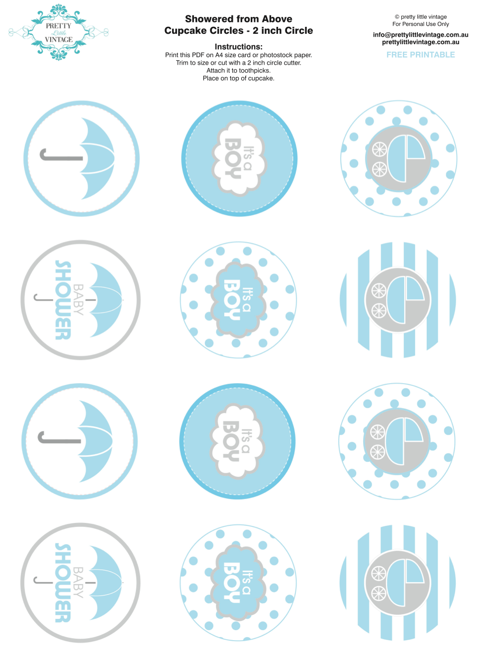 Showered From Above Rain Boy Baby Shower Printables Planning Ideas.
