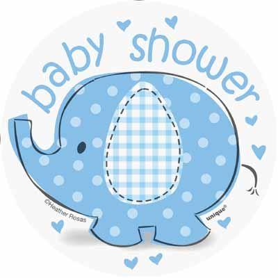 Umbrellaphants Blue Mini Cutouts for an elephant boy baby.