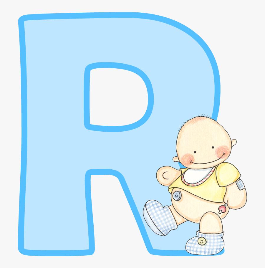 Letra R Para Baby Shower Niño , Free Transparent Clipart.