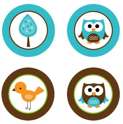 Owl Baby Shower Of Blue Clipart.