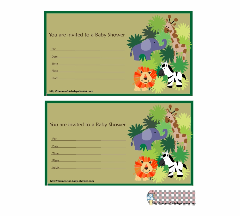 Free Printable Safari Baby Shower Invitations 109819.