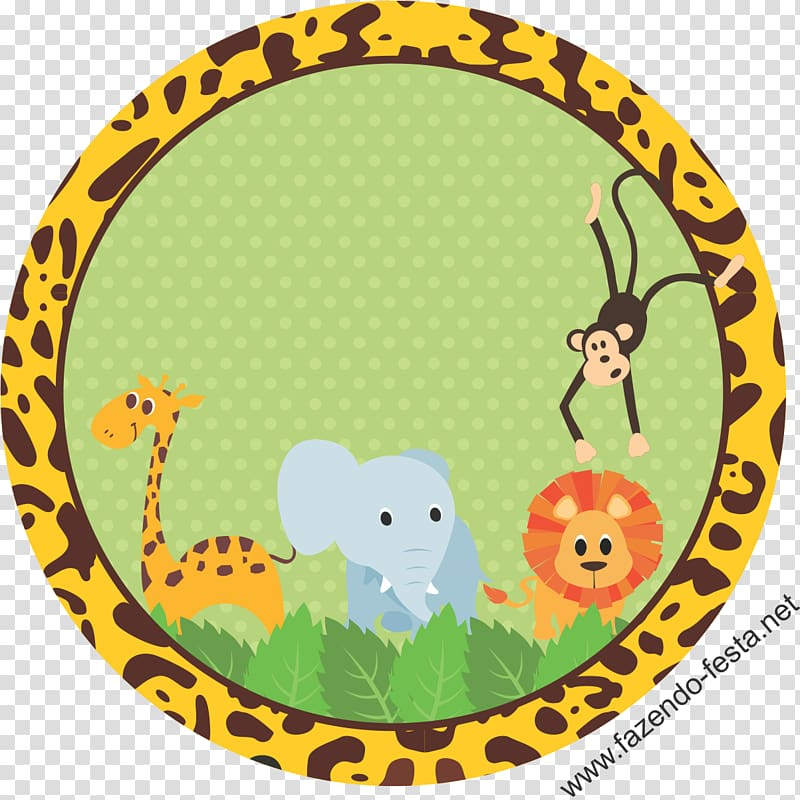 Giraffe, elephant, lion and monkey , Safari Baby shower.