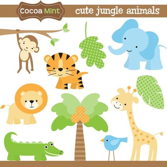 jungle animals clip art.