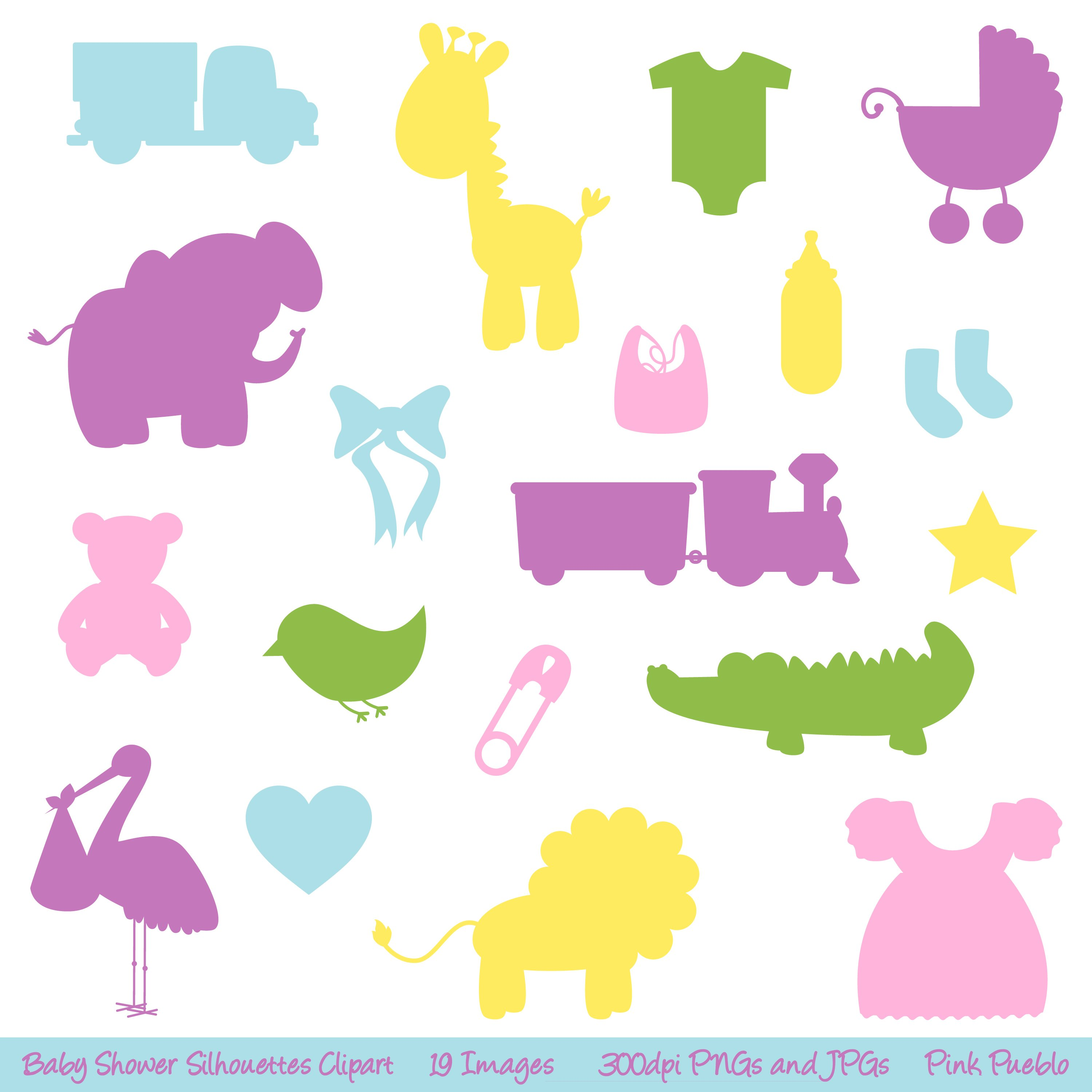 Baby Silhouette Vectors and Clipart.
