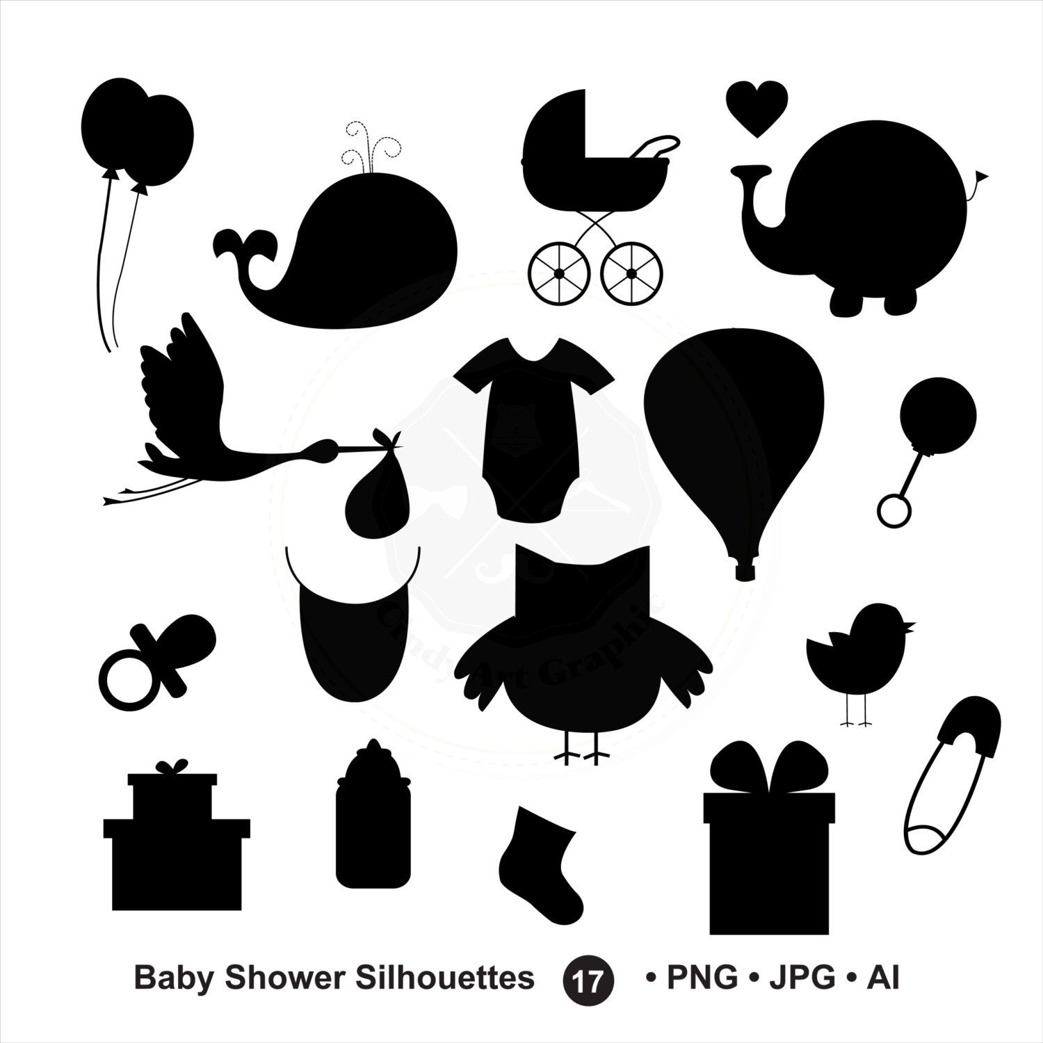 Baby Shower SVG Silhouettes,baby shower clipart,bundle svg,baby svg.
