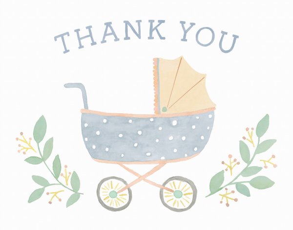 Baby Shower Thank You Cards — Mailed For You.