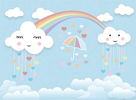Amazon.com : Leowefowa 10X8FT Sweet Baby Shower Backdrop Umbrella.