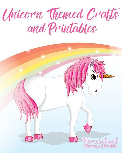 Unicorn Themed Crafts and Printables.