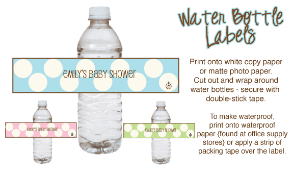 Baby Shower Water Bottle Clipart.