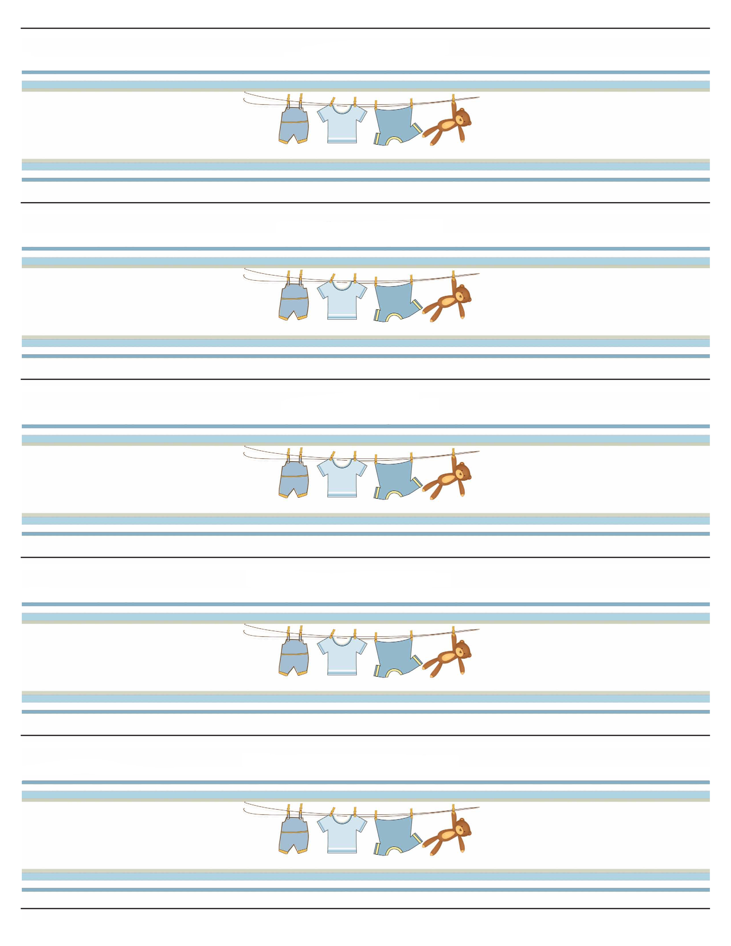 Boy Baby Shower Free Printables.