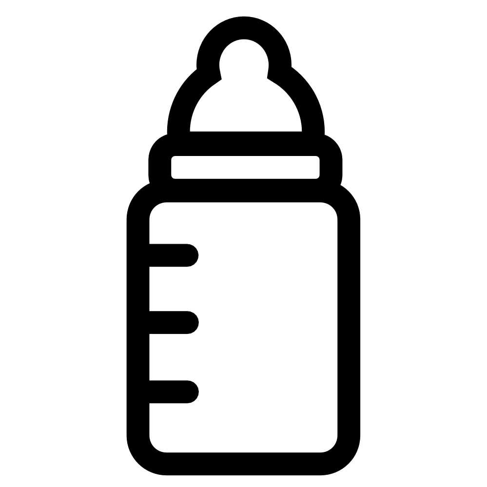 Baby shower water bottle clipart black and white.