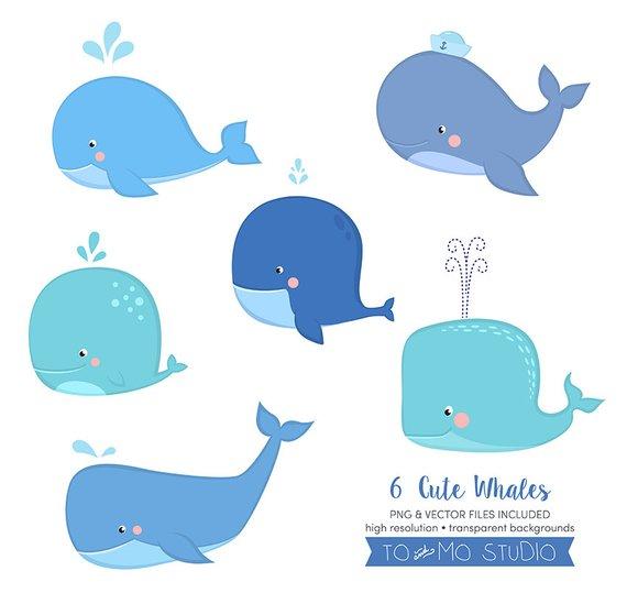 Cute Little Whale Clip Art & Vectors.