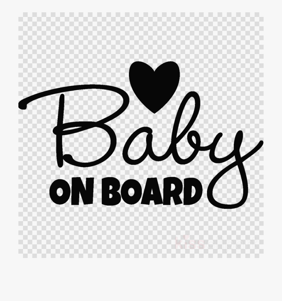 Baby On Board Sign Clipart.