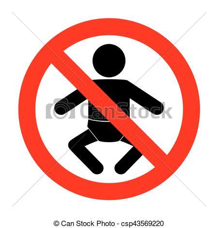 No Baby sign illustration..