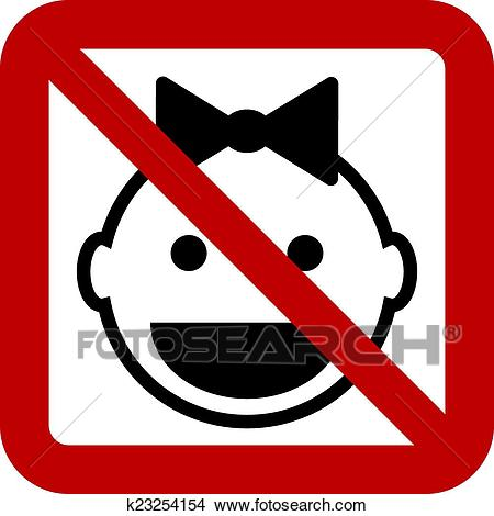 No baby sign Clipart.