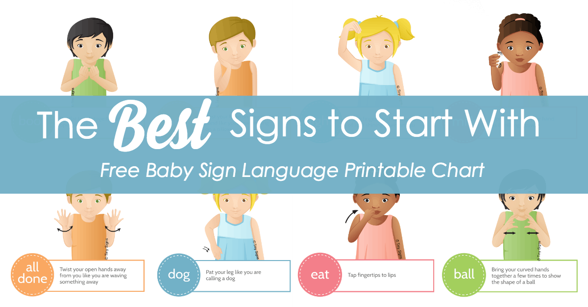 baby sign language best signs to start with.