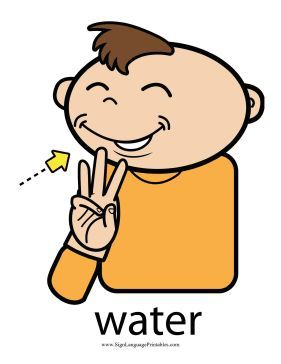 Image result for water sign language clip art free.
