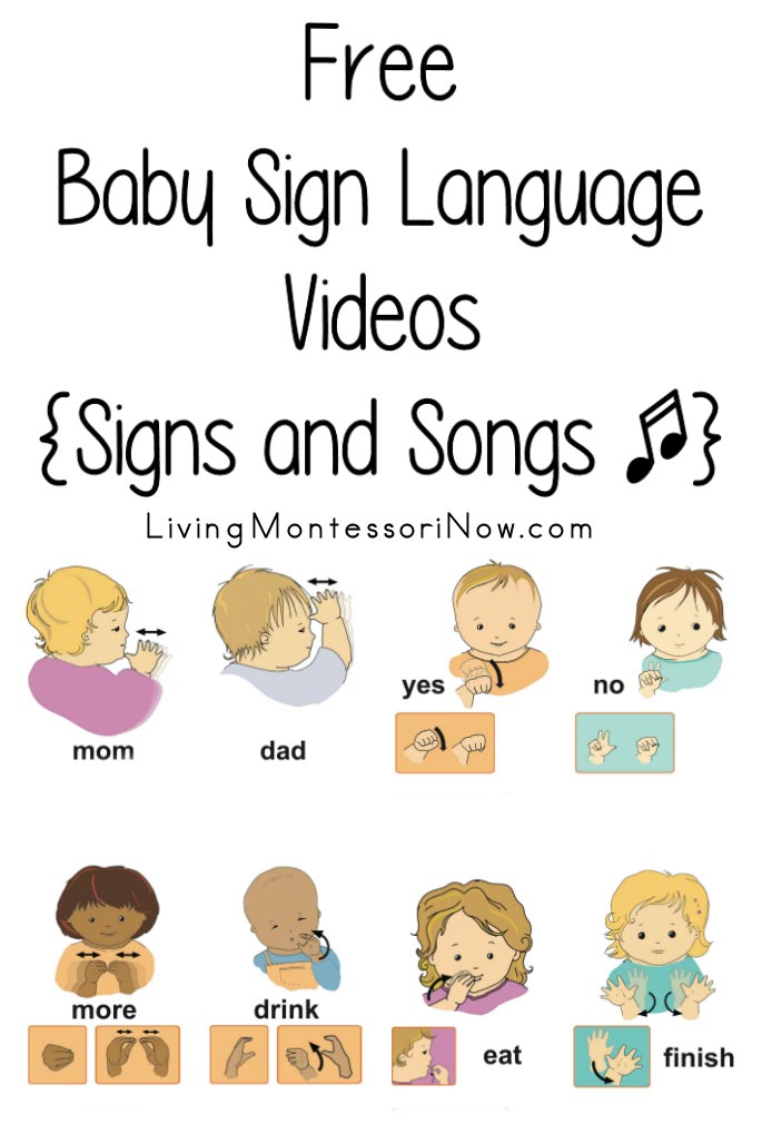 Free Baby Sign Language Videos {Signs and Songs}.