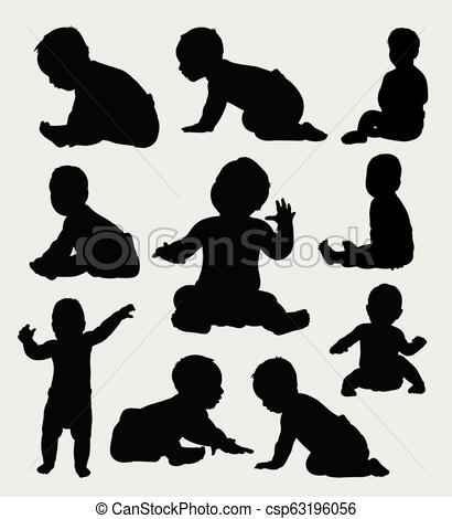 Baby silhouette.