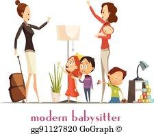 Babysitter Clip Art.