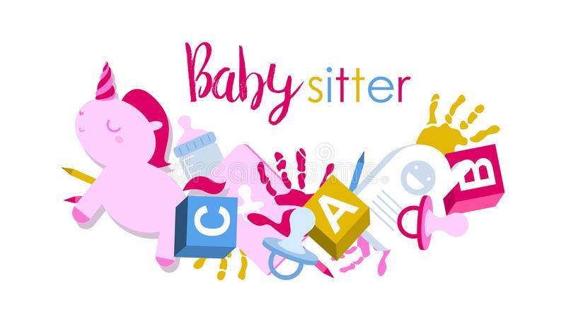 Babysitter Stock Illustrations.