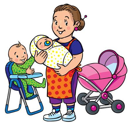 162 Baby Sitter Stock Illustrations, Cliparts And Royalty Free Baby.