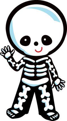 Cute Skeleton Clipart.