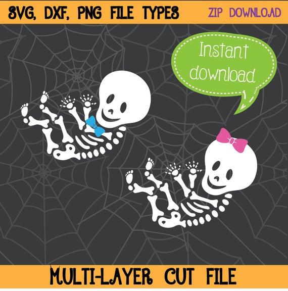 Baby Skeleton SVG, Girl Skeleton, Boy Skeleton, Expecting Baby Skeleton,  Halloween SVG, Halloween Clipart, Cricut Cut File, Silhouette File.
