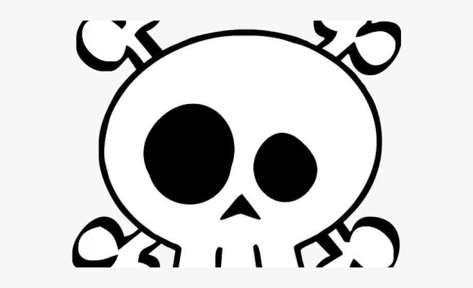 Skeleton Head Clipart Kid Friendly.